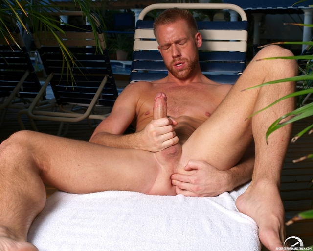 Finger in his ass stroking cock