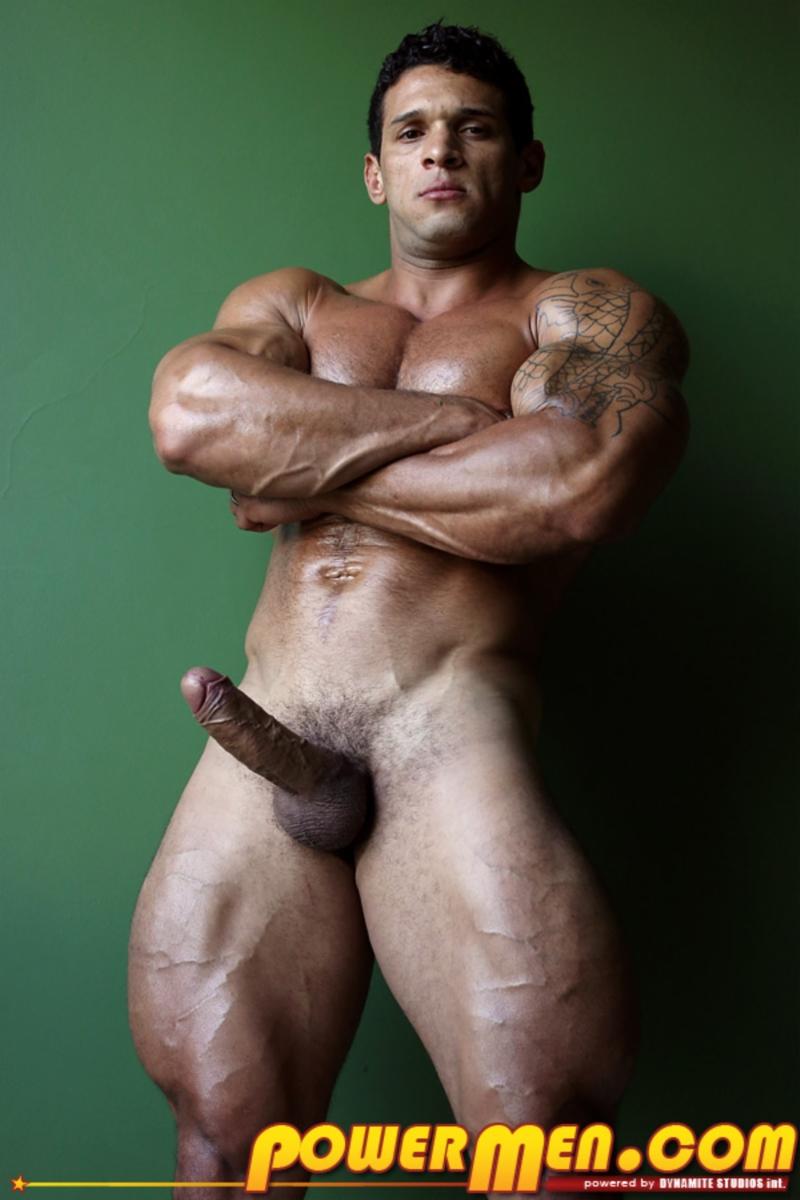 Muscular Guy Strokes His Huge Cock