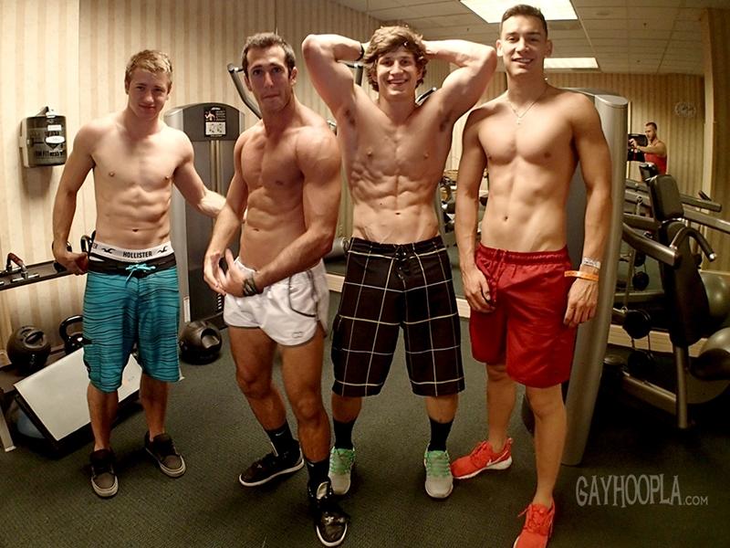 gayhoopla  Hunter Gage, Brad Spear, Seth Rose and Thomas Diaz