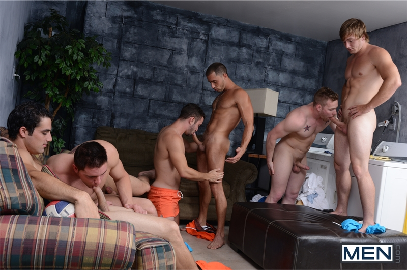men  Owen Michael, Jack King and Armando De Armas