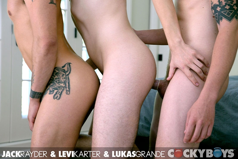 cocky boys  Cockyboys Levi Karter real life boyfriends Lukas Grande Jack Rayder doggy style gay fuck threesome cumming 009 tube download torrent gallery sexpics photo Levi Karter, Jack Rayder and Lukas Grande