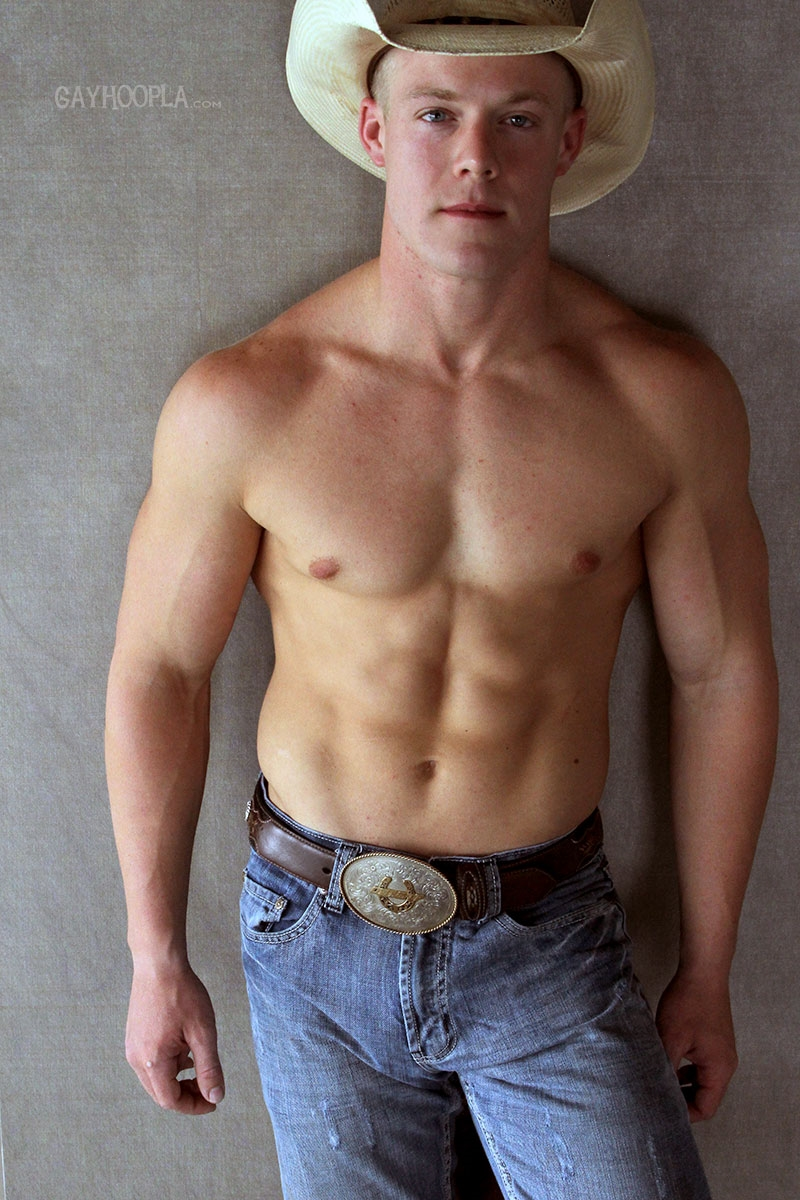 gayhoopla  GayHoopla Colt McClaire cowboy huge dick jeans crotch bulge orgasm cum solo jerk off smooth chest bubble butt 008 tube video gay porn gallery sexpics photo Gay Cowboy Colt McClaire