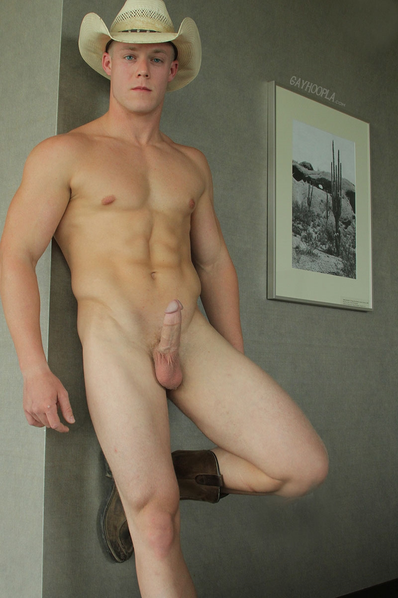 gayhoopla  GayHoopla Colt McClaire cowboy huge dick jeans crotch bulge orgasm cum solo jerk off smooth chest bubble butt 010 tube video gay porn gallery sexpics photo Gay Cowboy Colt McClaire