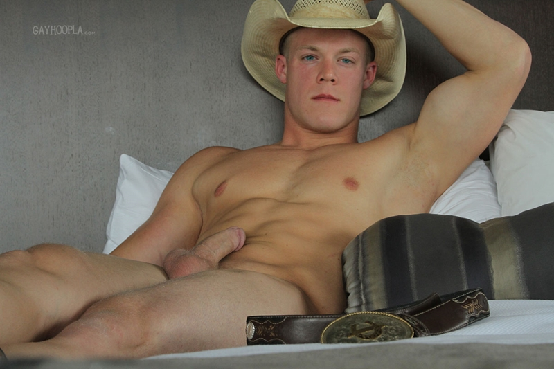 gayhoopla  GayHoopla Colt McClaire cowboy huge dick jeans crotch bulge orgasm cum solo jerk off smooth chest bubble butt 011 tube video gay porn gallery sexpics photo Gay Cowboy Colt McClaire
