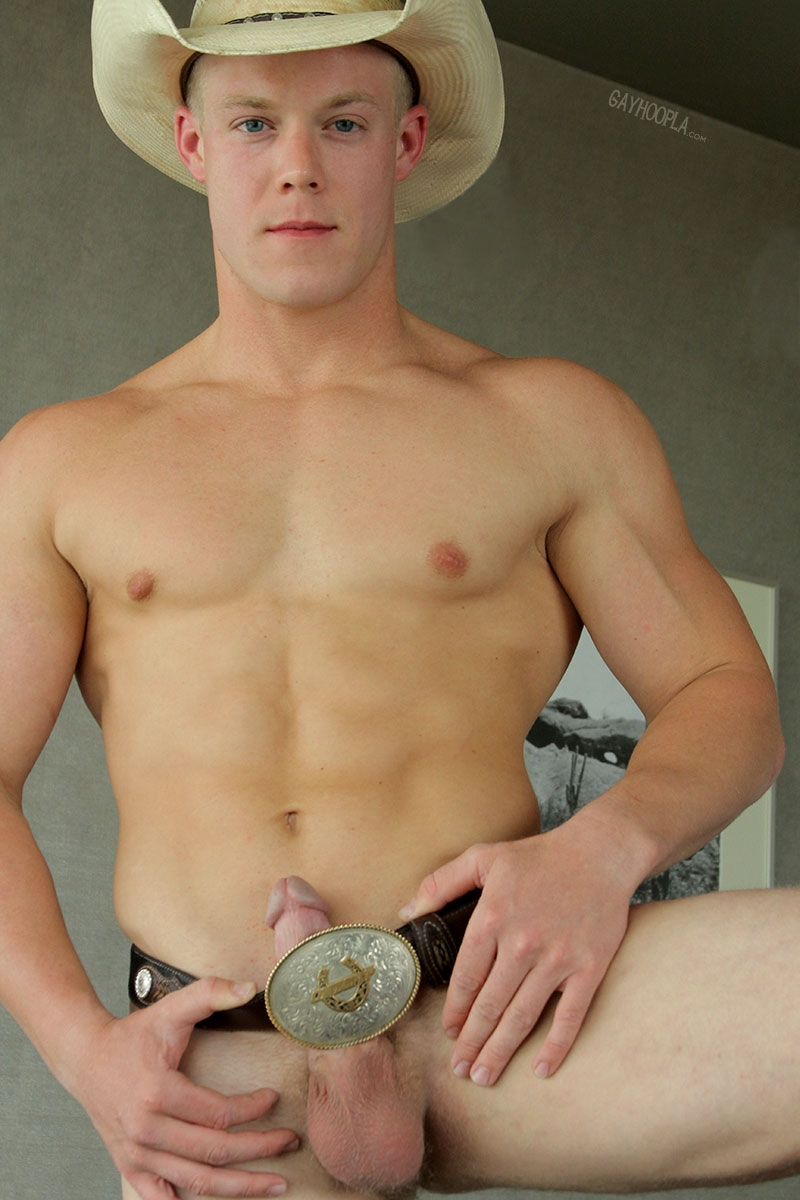 gayhoopla  GayHoopla Colt McClaire cowboy huge dick jeans crotch bulge orgasm cum solo jerk off smooth chest bubble butt 015 tube video gay porn gallery sexpics photo Gay Cowboy Colt McClaire