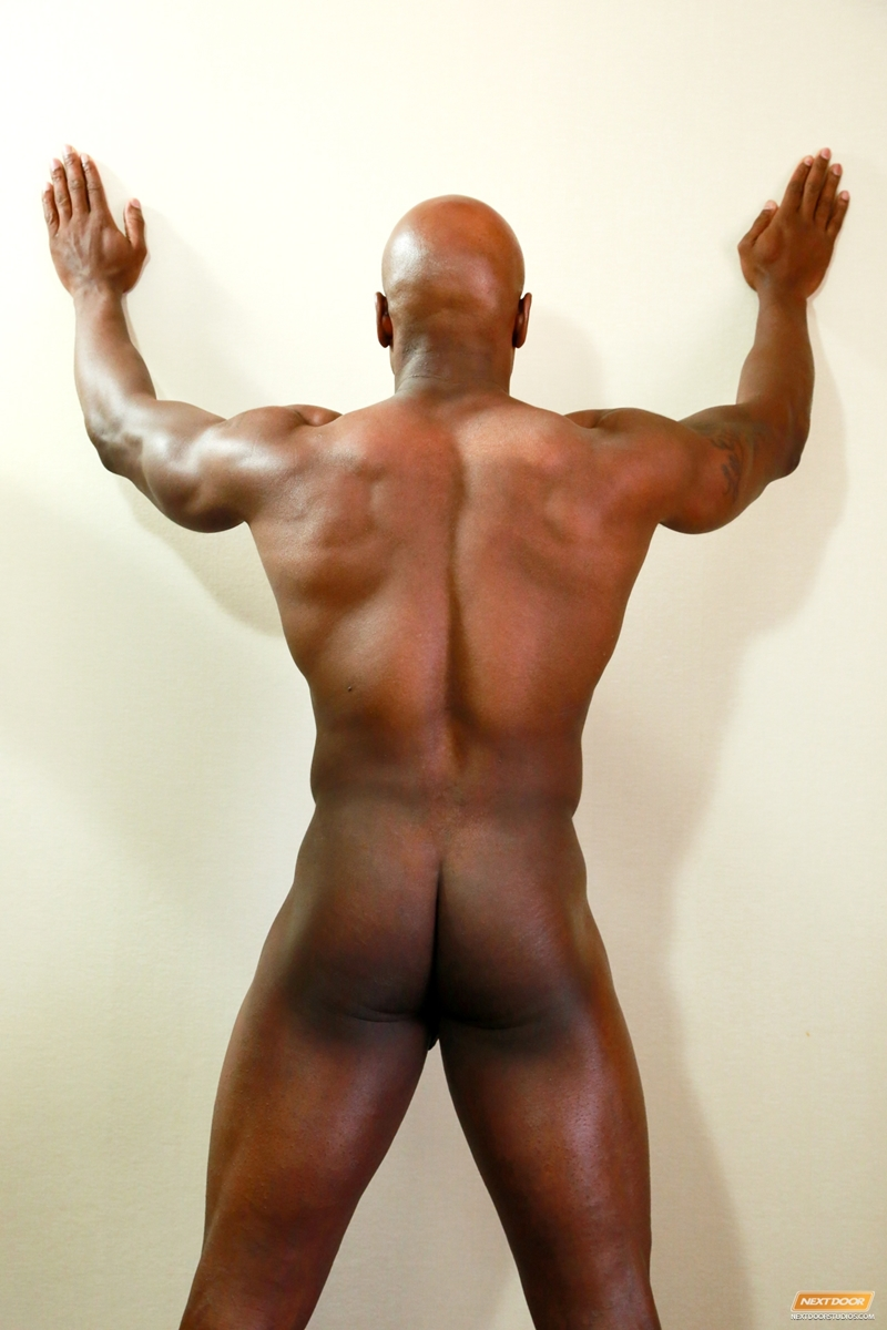 Gay black muscle butt