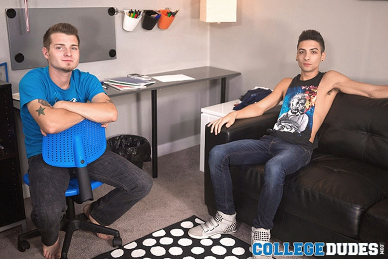 college dudes  CollegeDudes cute young guy Tristan Stiles sexy stud Roman Daniels big dick flip flop fucking ass rimming cocksucking 001 tube video gay porn gallery sexpics photo Roman Daniels and Tristan Stiles