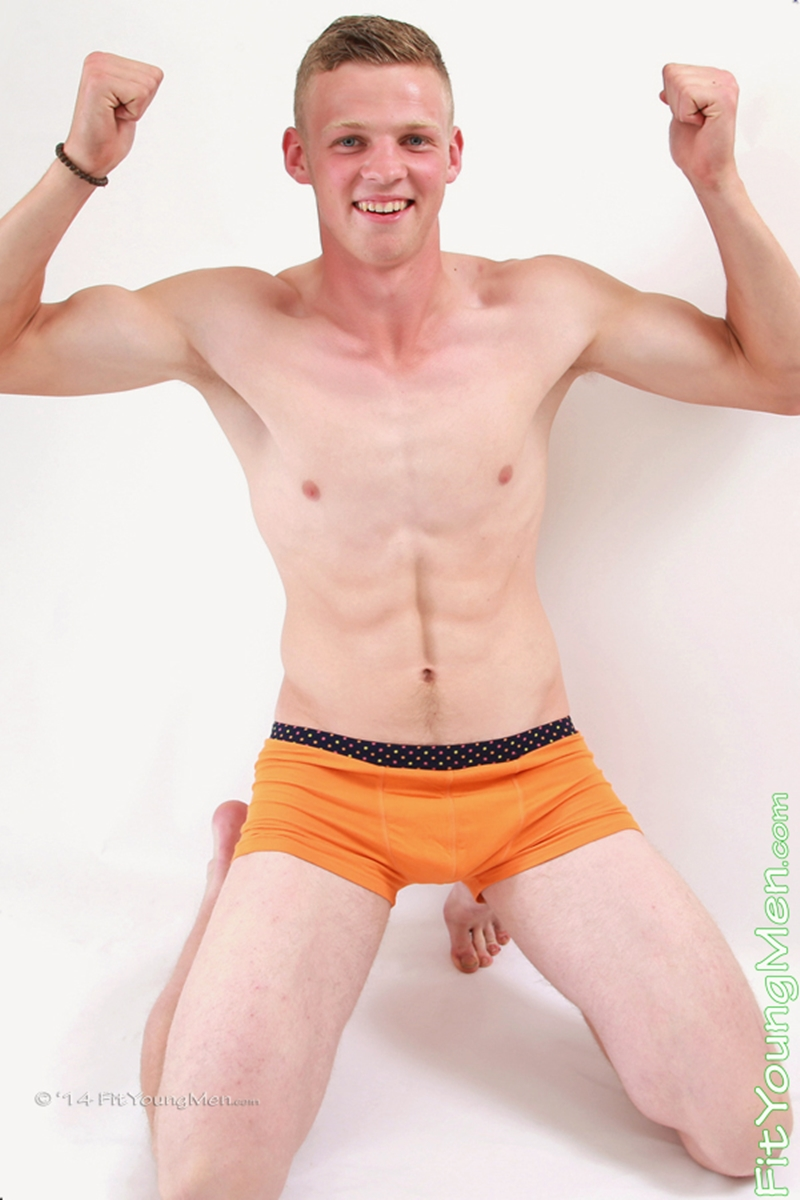 fit young men  Young wrestler Jordan Henderson stripped