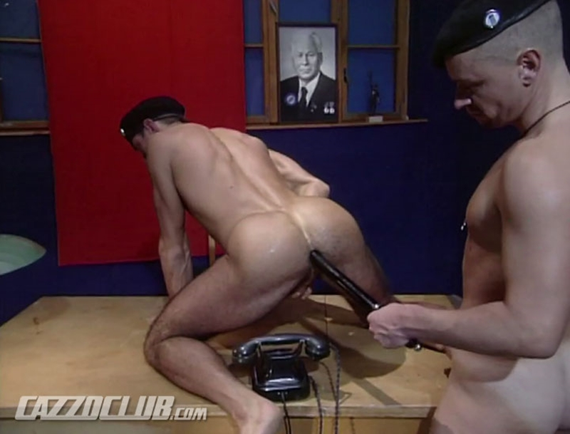 Lieutenant's big cock is fat enough to excite the Major's hungry hole