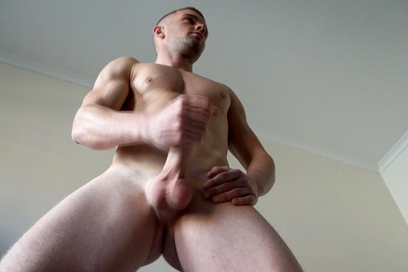 Sexy nude jock with a huge hard cock