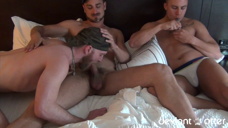 Deviant Otter Man Pile raunchy man fuck session instant chemistry between the three of us
