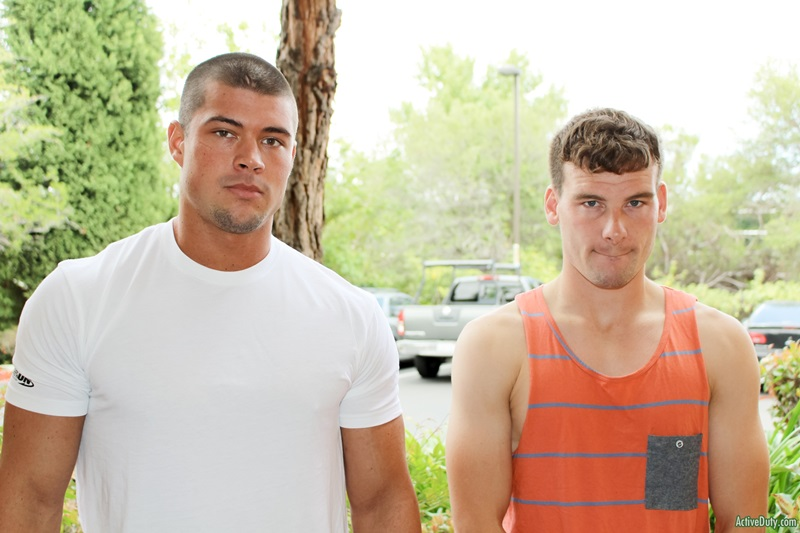 Straight Army recruits Brad and Christian suck then fuck