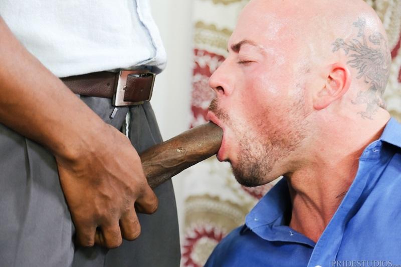Osiris Blade bends Sean Duran over the desk pumping his thick cock deep his asshole