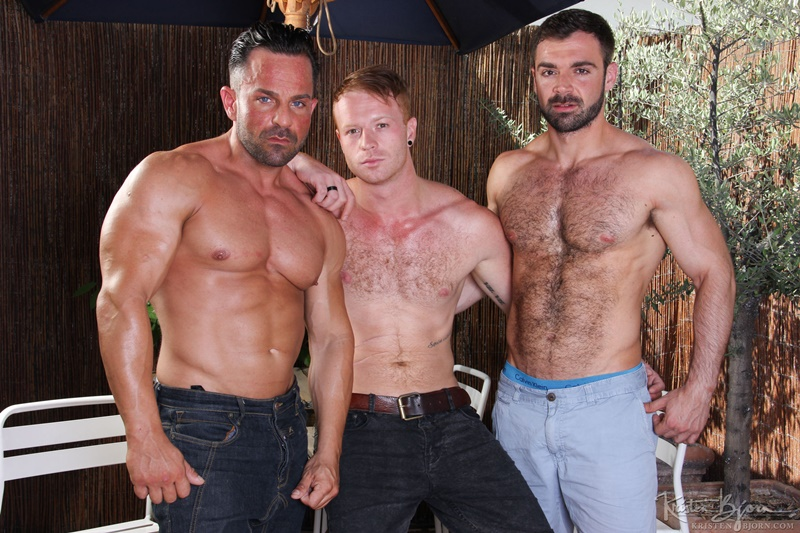 Hardcore bareback butt fucking Tom Vojak, Alex Brando and Jose Quevedo