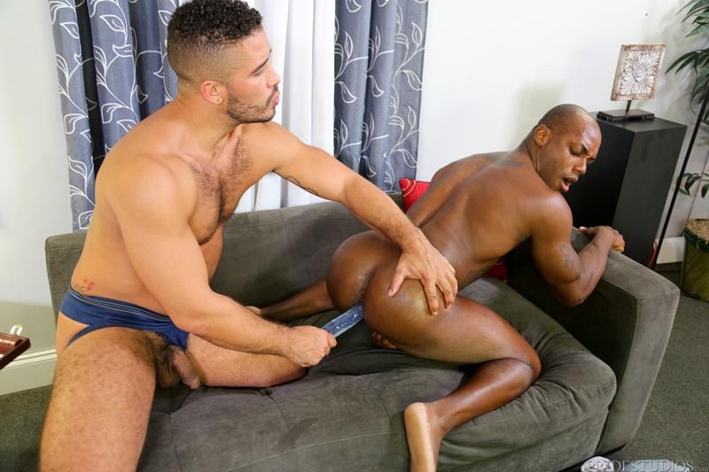 Trey Turner and Osiris Blade deep ass fuck a double ended dildo
