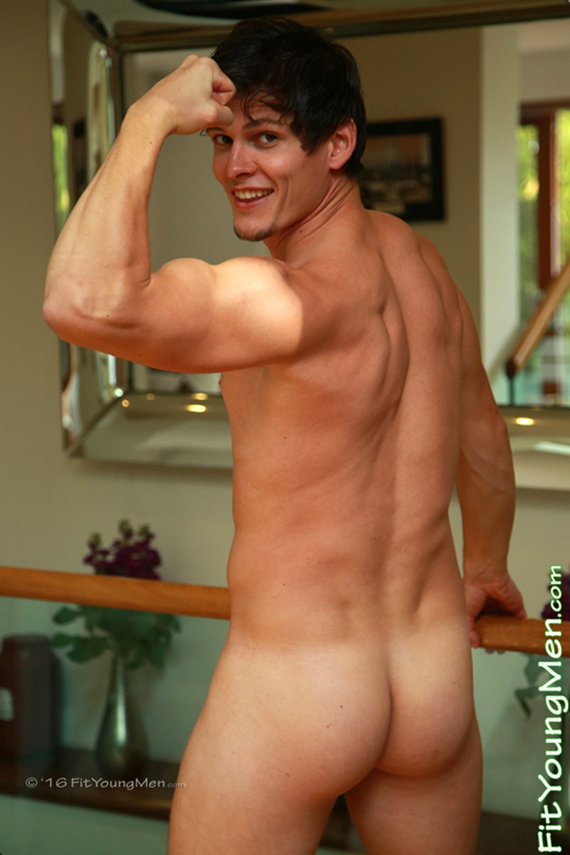 Sexy Naked 24 Year Old Gym Buddy Adam Caspar Shows Off His -6389