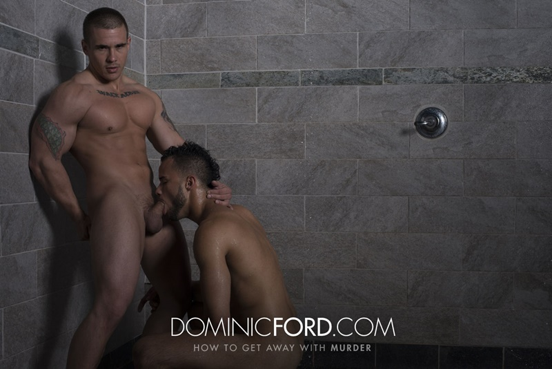 Adam Bryant fucks the cum out of Javier Cruz's tight asshole