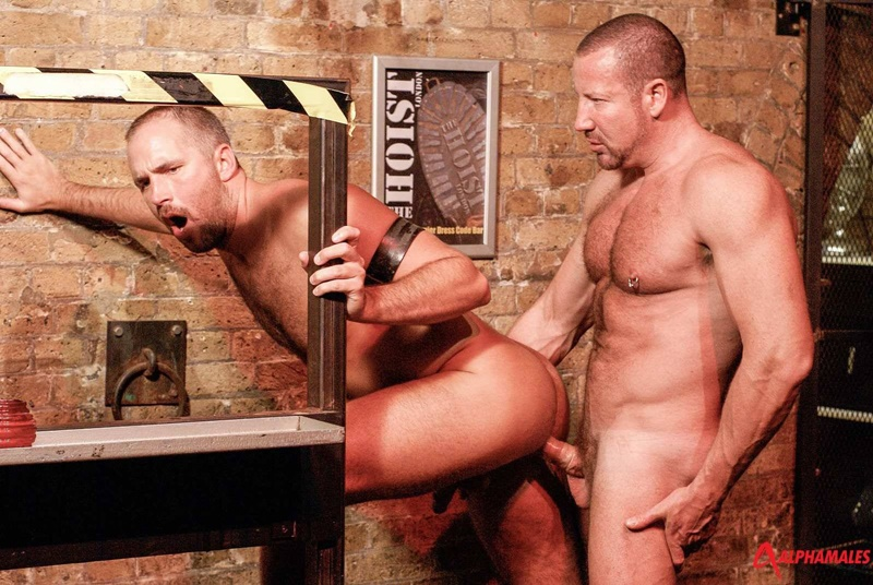 Hairy chested hunks Dane Hyde services Trojan Rock's huge thick cock from his zippered jockstrap
