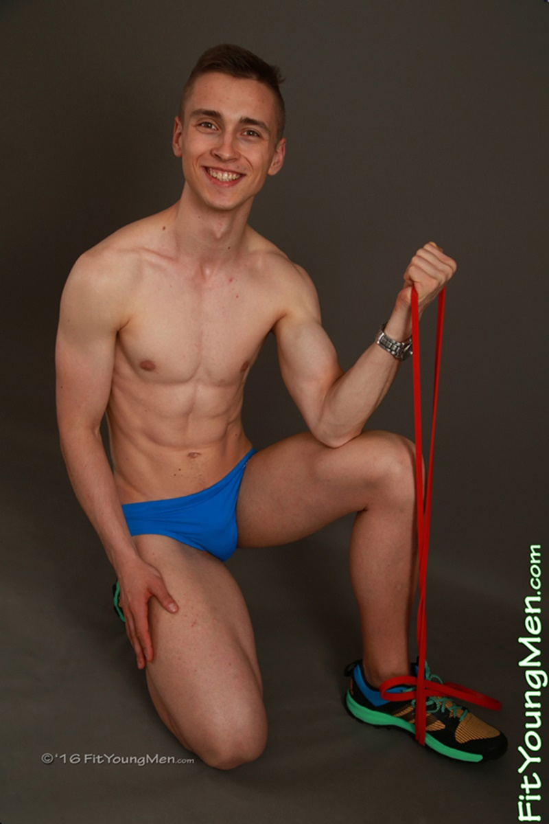 Ivan Crowley gym bunny aged 19 years old stripping down to his tight underwear