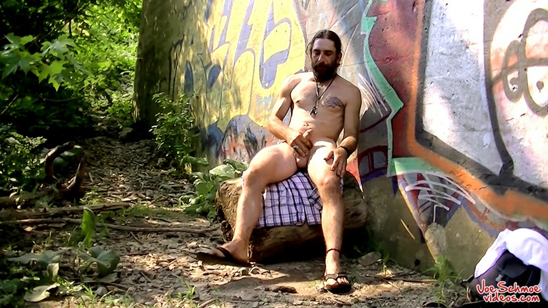 Joe Schmoe Videos Squirell rubs his cock stroking his hairy meat until his cum is ready to blow