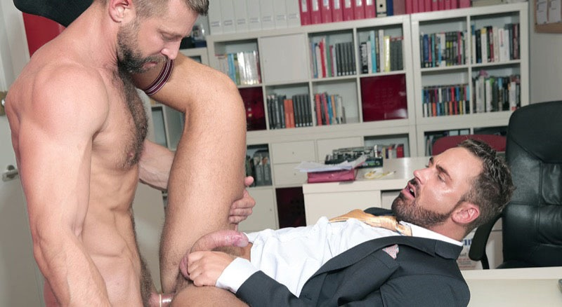Men at Play Brazen Bulrog ass fucks Logan Moore