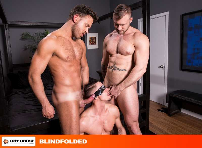 Skyy Knox takes every big cock as hunks Austin Wolf and Logan Moore take turns on his holes