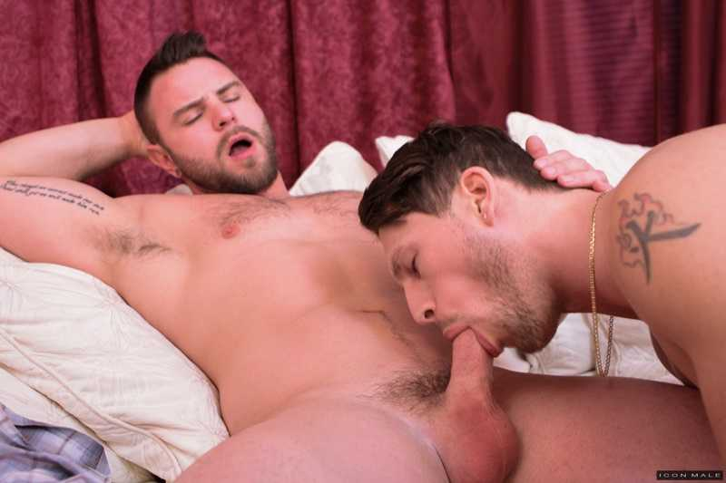 Roman Todd and Nick Sterling sucking each other's big dicks