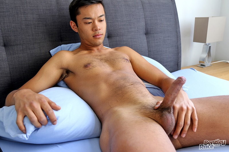 21 year old Aussie boy Alex Sanchez jerks his huge uncut dick playing with his foreskin