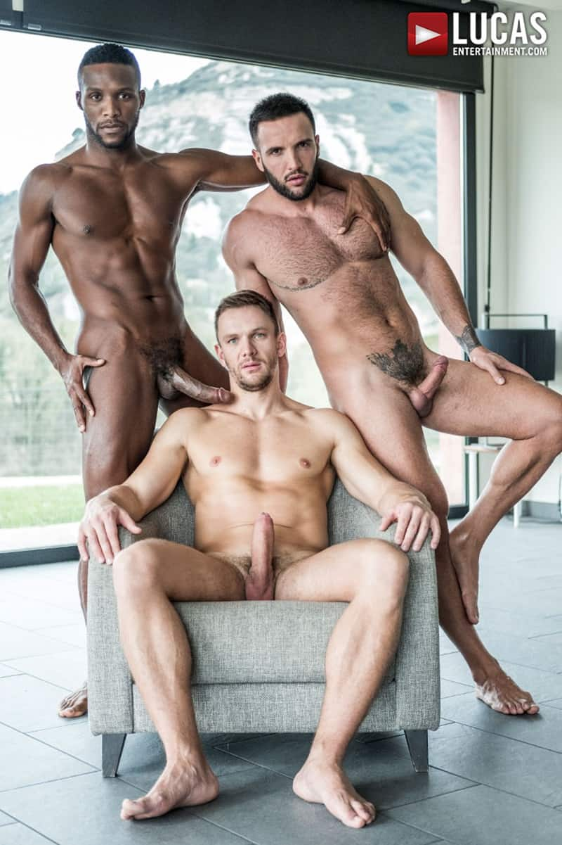 Donato Reyes first time barebacked by Andre Donovan and Andrey Vic's huge raw dicks