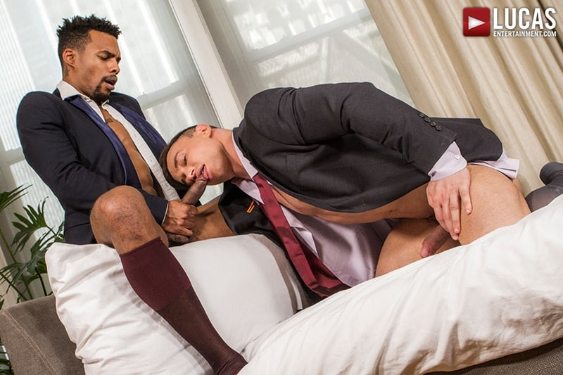 Jacen Zhu and Alexander Volkov suck each other's cocks before taking raw dick up their asses