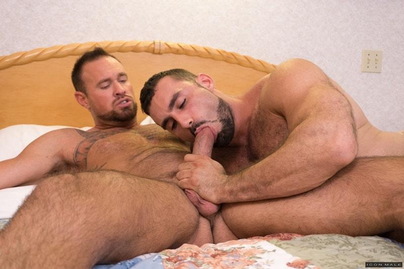 Two hot muscle daddies Jaxton Wheeler and Michael Roman hardcore big dick ass fucking