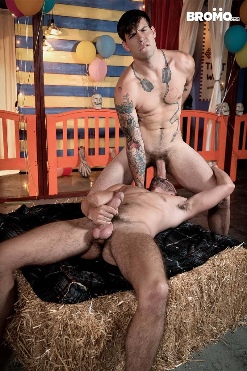 Men for Men Blog Buck-Richards-Scott-DeMarco-thick-long-cock-mouth-throat-anal-fucks-Bromo-007-gay-porn-pictures-gallery Buck Richards dick slaps Scott DeMarco in the face before stuffing his thick long cock in his mouth and throat fucks him Bromo
