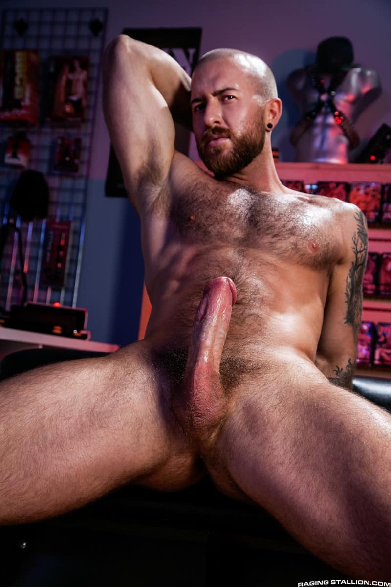 Men for Men Blog Teddy-Bear-Nigel-March-naked-Hairy-hunk-fucked-huge-cock-at-Raging-Stallion-007-gay-porn-pictures-gallery Horny stud Teddy Bear rolls over on his back and lets Nigel March slam his ass Raging Stallion