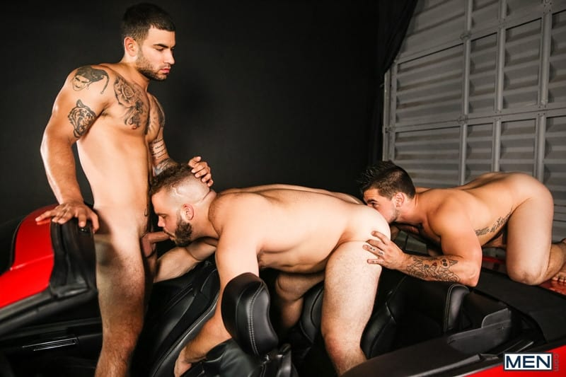 Hot gay threesome Daxx Carter, Vadim Black and Aspen hardcore anal fucking