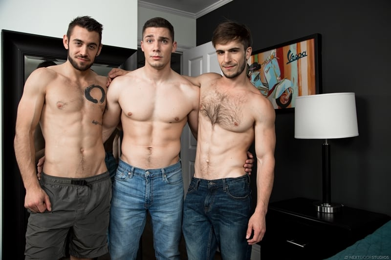 Hardcore threesome Donte Thick, Spencer Laval and Dante Colle big dick fucking