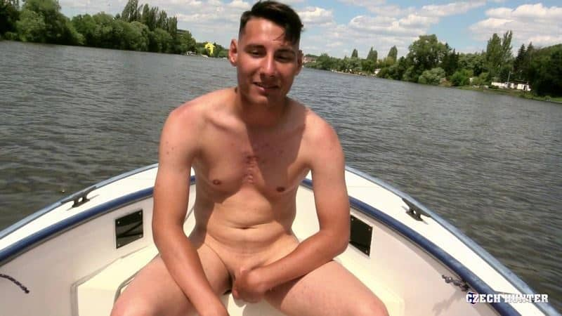Young straight sailor sucks my big uncut cock then lets me fuck his tight virgin ass at Czech Hunter 542