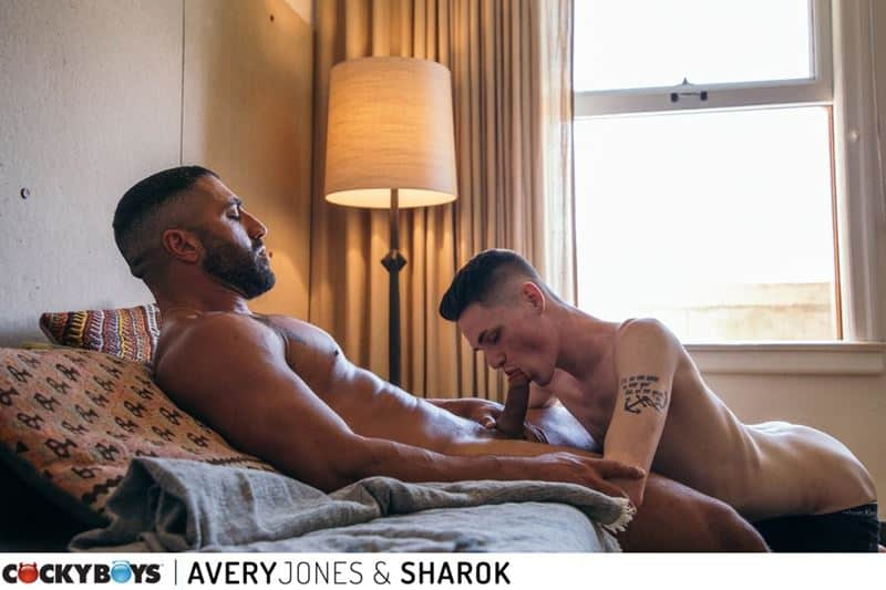 Sexy young buck Avery Jones's hot bubble butt raw fucked by muscled hunk Sharok's huge thick dick
